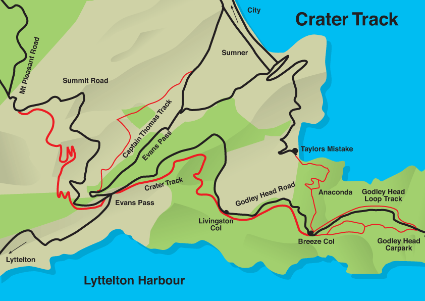 crater track map